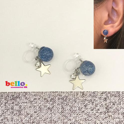 [耳夾] 藍波銀星 EC2222-- [香港耳夾] [日本耳夾][耳夾網店][無痛耳夾]