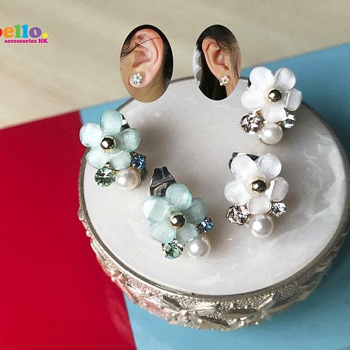 [耳針]小花閃閃(2色)ER1523 -- [香港耳環] [日本耳環][耳環網店]