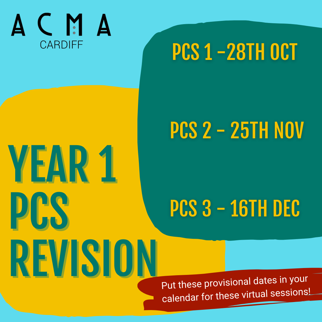 Year 1 PCS Revision sessions