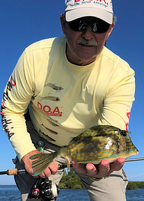 Capt. Ray Markham with a first-time catc