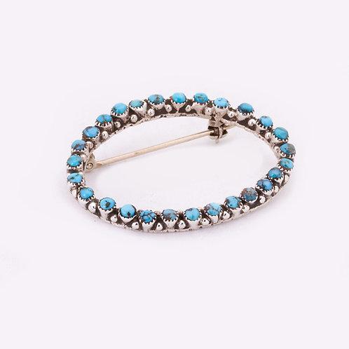 Zuni Turquoise pin CC-0024