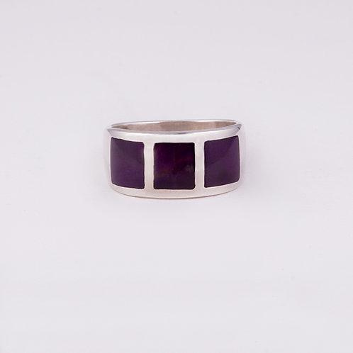 Sterling Silver Carlos Diaz Inlay Ring RG-0162