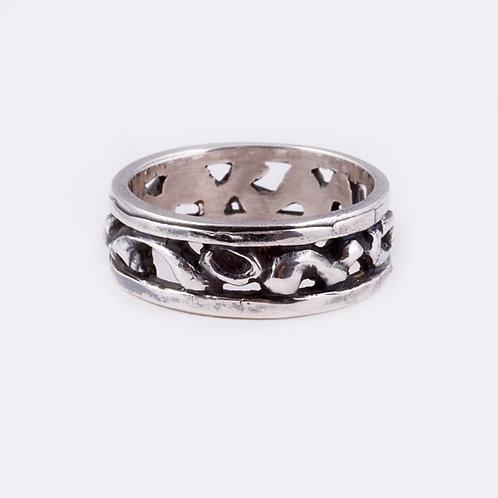 Sterling Nugget Ring RG-0325
