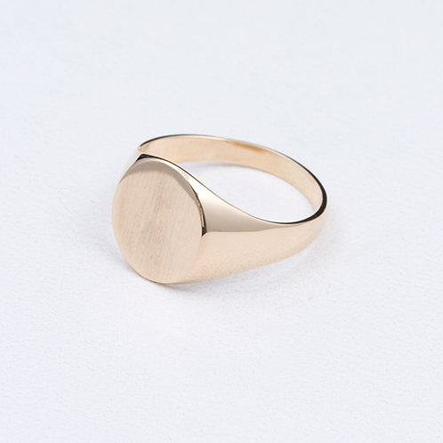 14KT yellow gold signet ring GD-0372