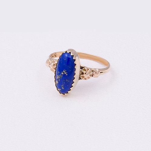 14k Navajo Lapis Ring GD-0078