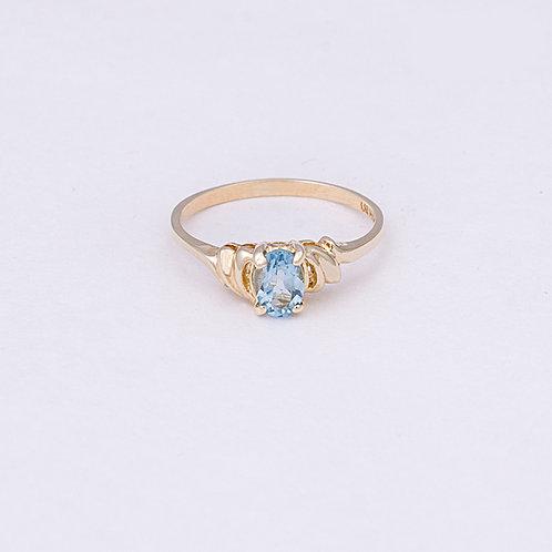 14k Aquamarine Ring GD-0116