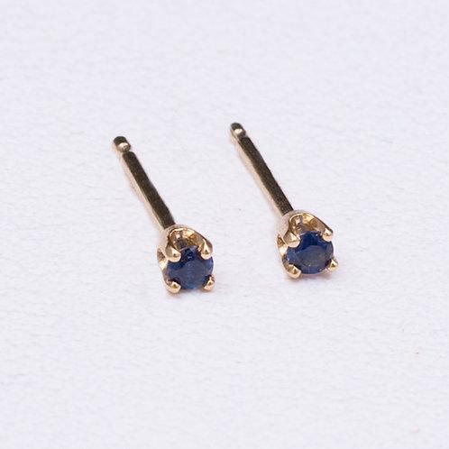 14KT Yellow Gold Sapphire EarringsGD-0240