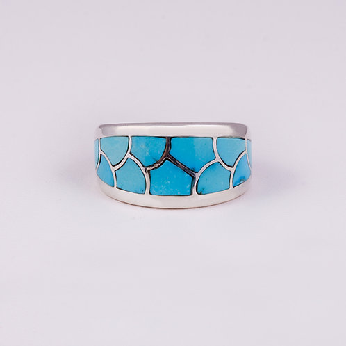 Sterling  CD Turquoise Ring RG-0183