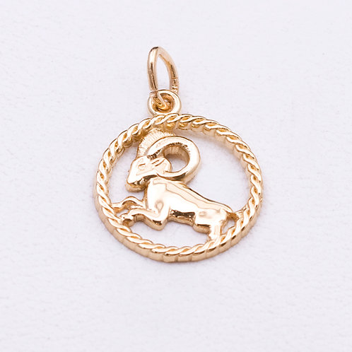 14KT Yellow Gold Aries Charm GD-0327