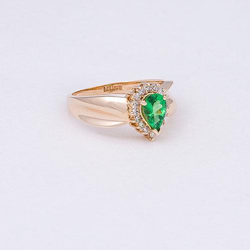 14k Tsavorite Garnet Ring GD-0132