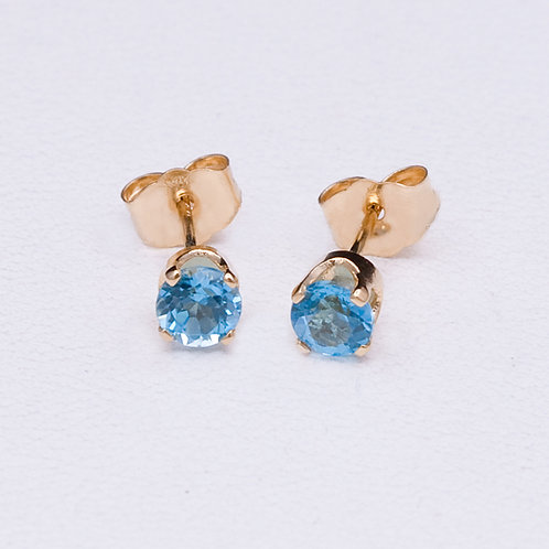 14KT Yellow Gold Topaz Earrings GD-0241