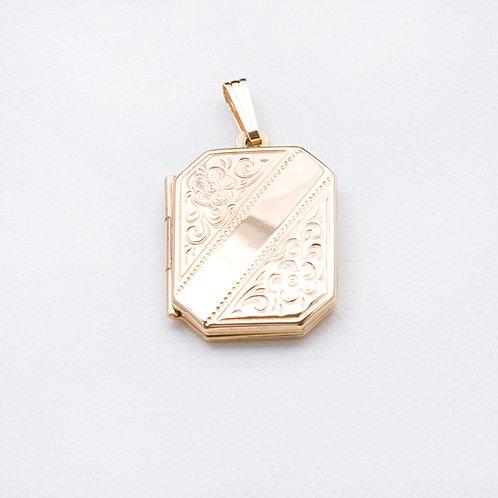 14KT Yellow Gold Locket GD-0348