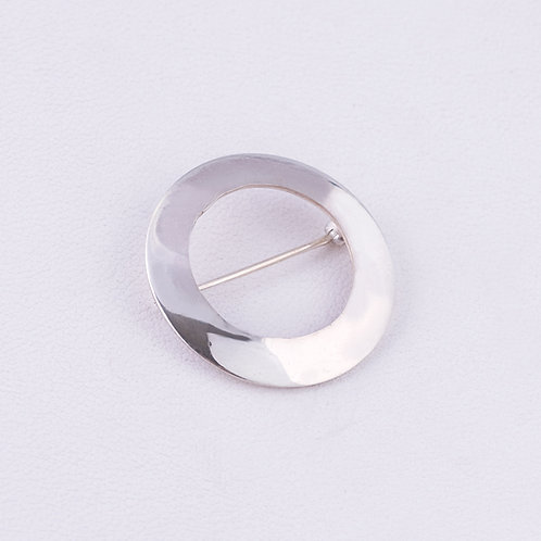 Sterling Silver Carlos Diaz Open Circle Pin