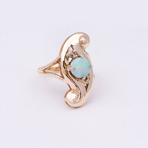 14k Opal and Diamond  Ring GD-0129