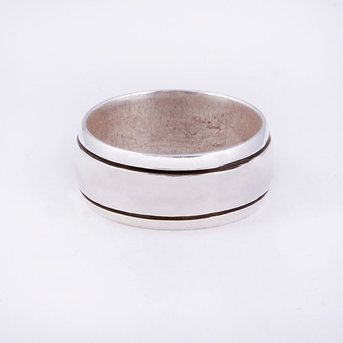 Sterling Silver Navajo chased ring RG-0398