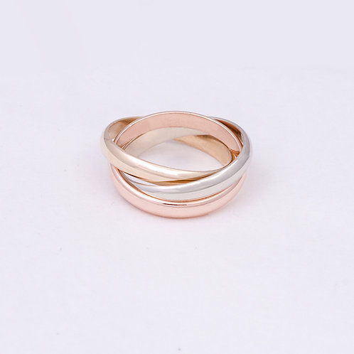 14k Tri Gold Bands GD-0108