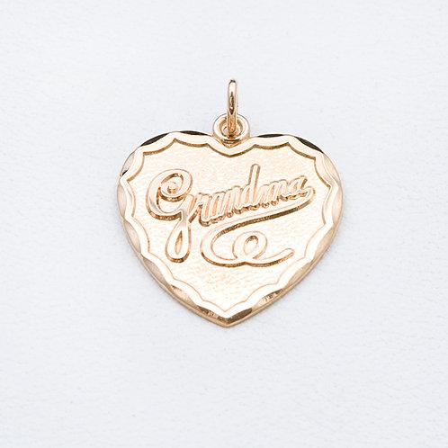 14KT Yellow Gold Grandma Charm GD-0336