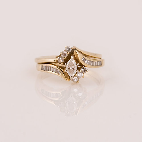 Consignment 14k Diamond Wedding Set CC-0170