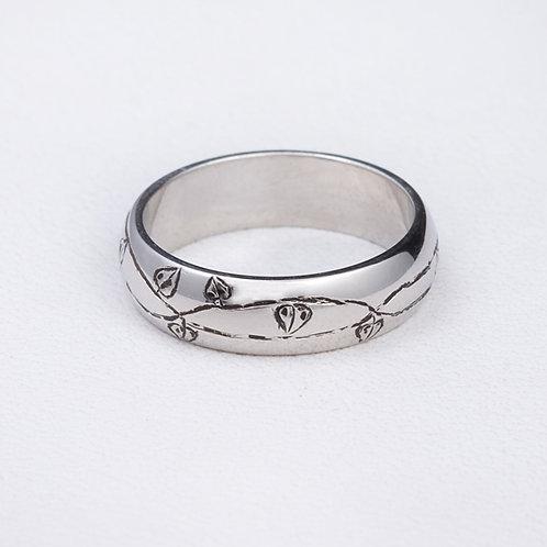 Platinum Stamped Ring RG-0231
