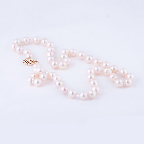 Pearl Necklace 14k Clasp NK-0011
