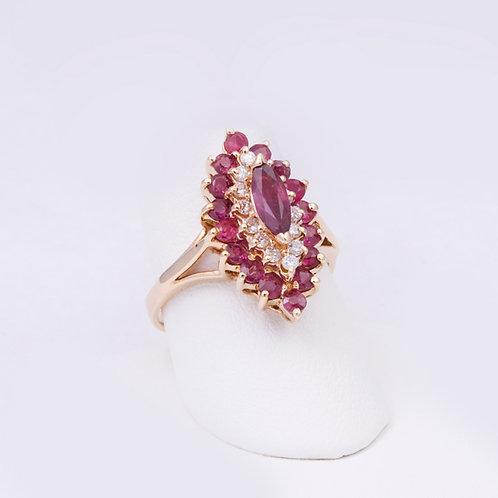 14k Ruby/Diamond Ring GD-0114