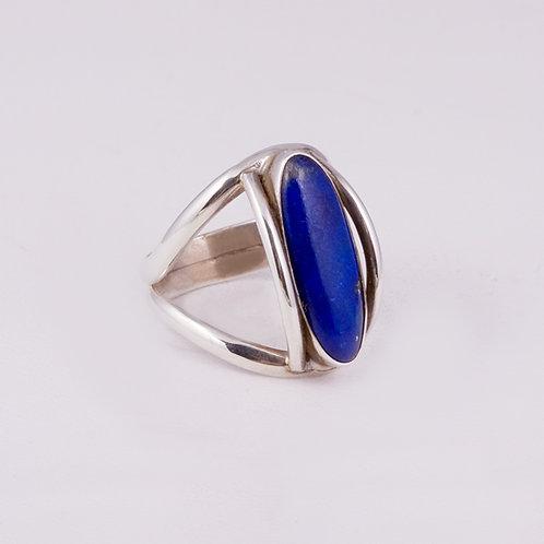 Sterling Silver Carlos Diaz Lapis Ring RG-0174