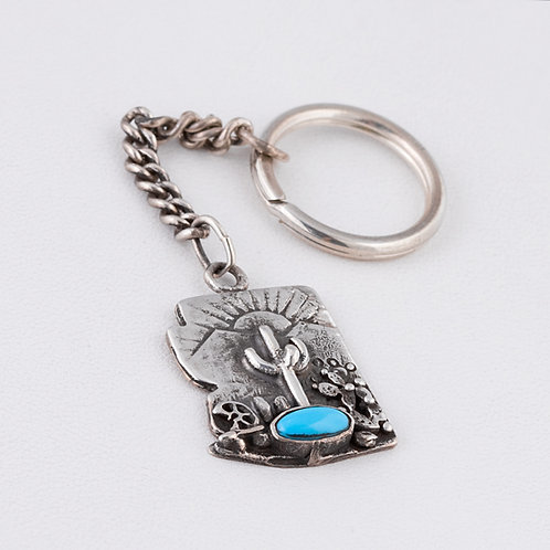 Sterling Silver Carlos Diaz Key Chain MI-0025