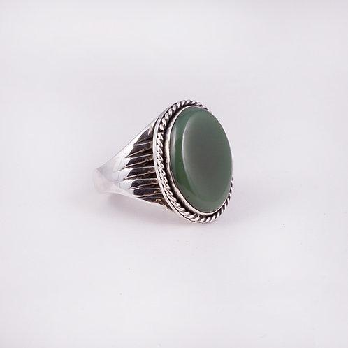Sterling Carlos Diaz Jade Ring RG-0154