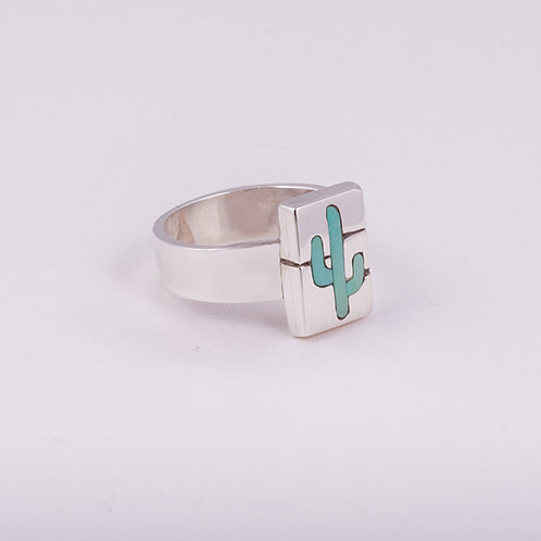 Sterling Silver CD Turquoise Ring RG-0187