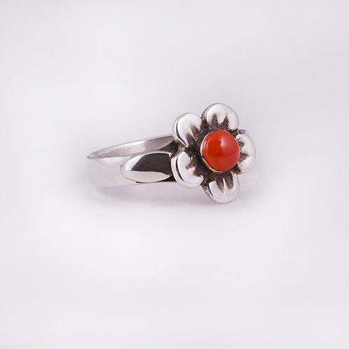 Sterling Silver Carlos Diaz Flower Ring RG-0150