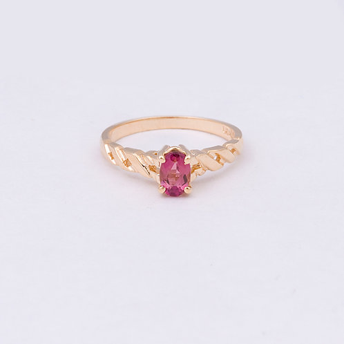 14k ring with a Pink Tourmaline
