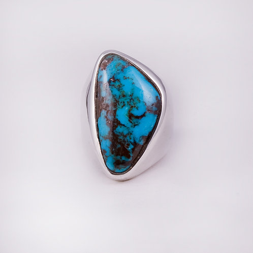 Sterling  CD Bisbee Turquoise ring RG-0127