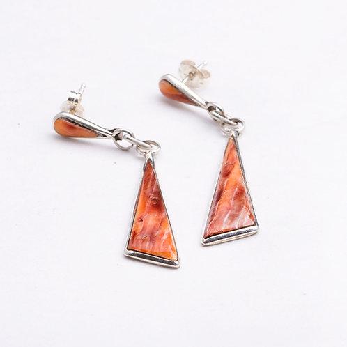 Zuni Spiny Oyster Dangle Earrings ER-0292