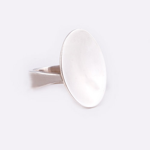 Sterling Concave Disk Ring RG-0344