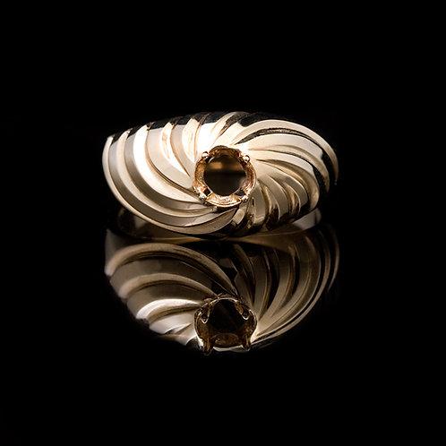 14k Swirl Ring GD-0430