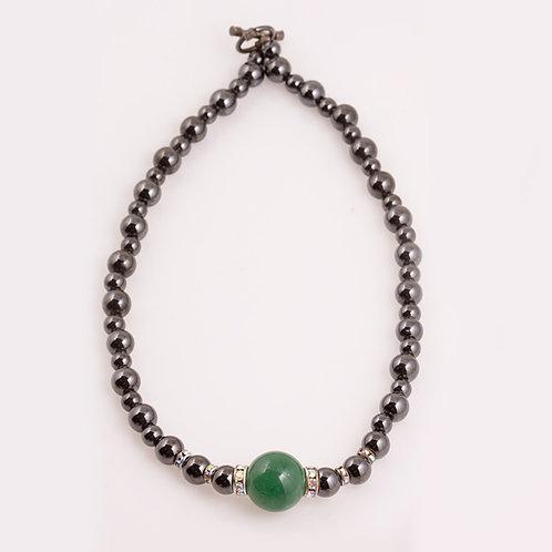 Consignment Hematite/Jade Necklace CC-0200