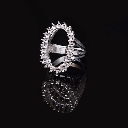 14KT White Gold Ring Setting GD-0415