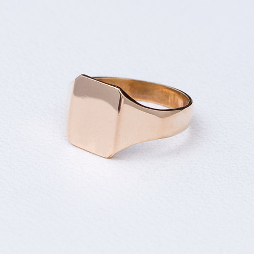 14KT Yellow gold signet ring GD-0387