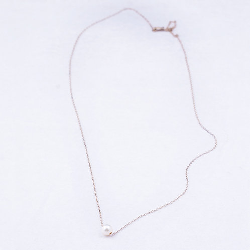 Sterling Silver chain with pearl