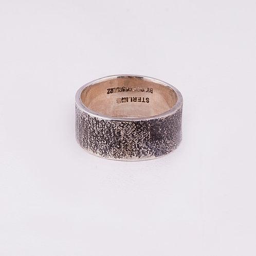 Carlos Diaz Sterling Tree Bark Ring RG-0167