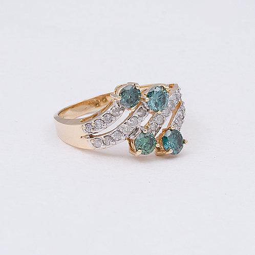 14k Blue Diamond ring GD-0142