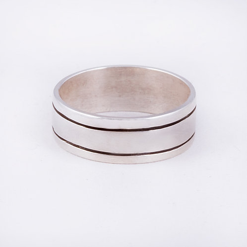 Sterling Silver Navajo chased ring RG-0399