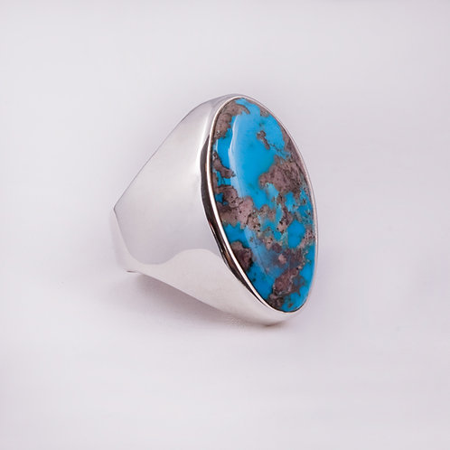Sterling CD Bisbee Turquoise ring RG-0128