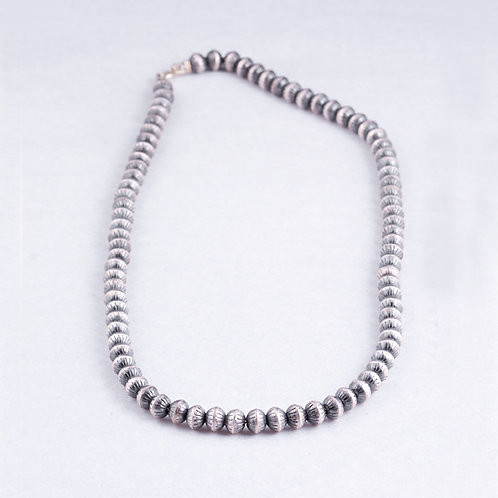Sterling Silver bench bead necklace NK0043
