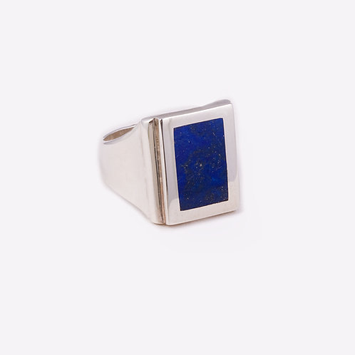 Sterling Silver Carlos Diaz Lapis Ring RG-0180