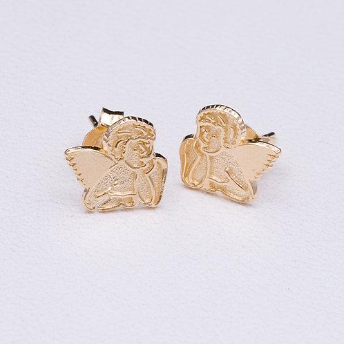 14KT Yellow Gold Angel Earrings GD-0229