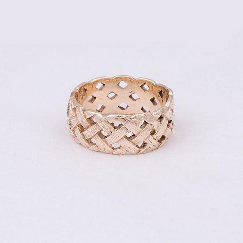 Carlos Diaz 14k Baskset Weave Ring GD-0154