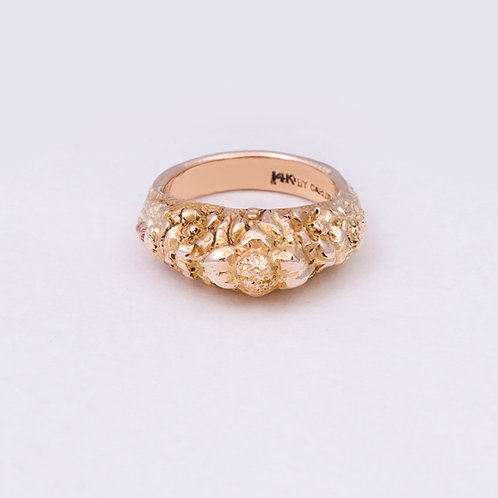 14k Carlos Diaz Floral Ring GD-0110