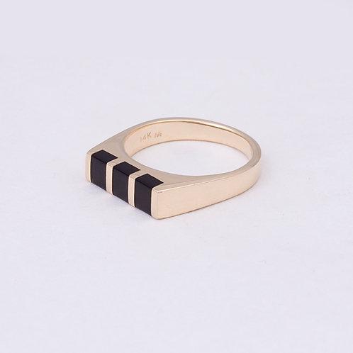 14k Black Coral Ring GD-0152