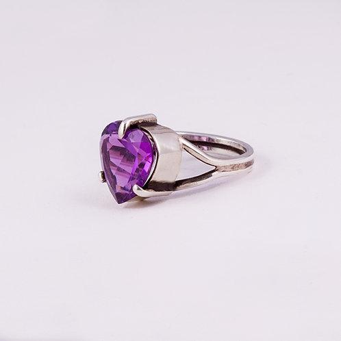Sterling Silver Carlos Diaz Amethyst Ring RG-0197